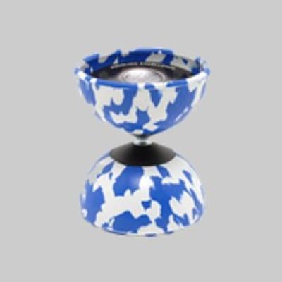 Diabolo Harlekin Medium weiss-blau