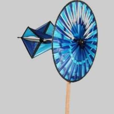 Spiralrad blau