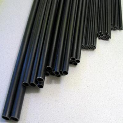 GFK Rohr  8,0x6,0 x 1500mm schwarz