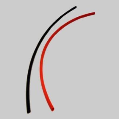 Schrumpfschlauch 3,2mm 2x25cm schwarz rot