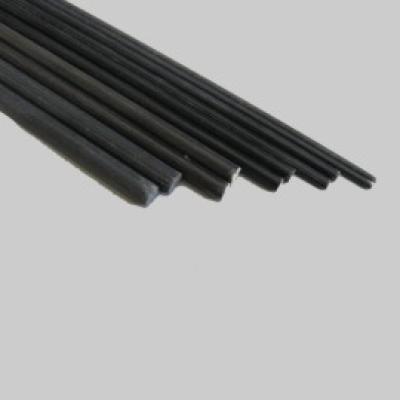 GFK Rundstab  6,0 x 1000mm schwarz