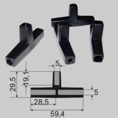 Exel T-Verbinder 3x5mm