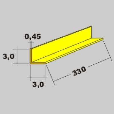 Messing L Profil 3,0x3,0 x 330mm