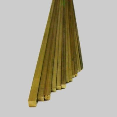 Messing Vierkant Profil 5,0x5,0 x 1000mm