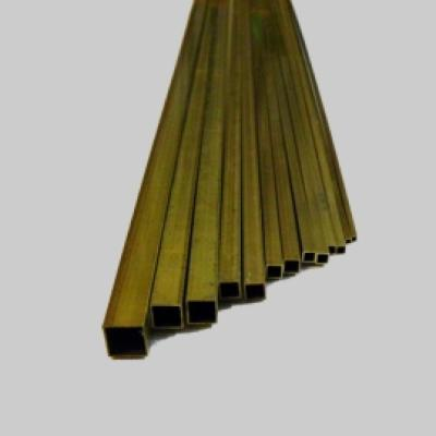 Messingrohr quadratisch 4,0x4,0 x 1000mm