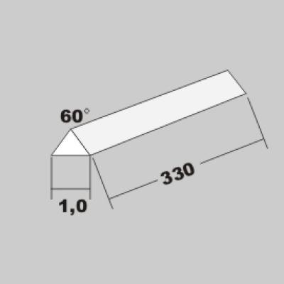 P-Dreikant 60Grad 1,0 x 330mm