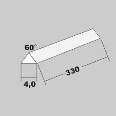 P-Dreikant 60Grad 4,0 x 330mm