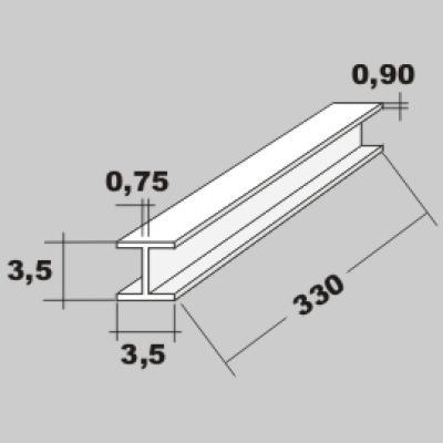 P-H-Profil 3,5x3,5 x 330mm