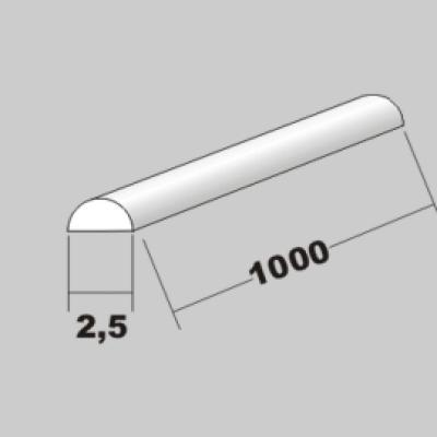 P-Halbrund 2,5 x 1000mm