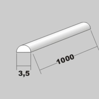 P-Halbrund 3,5 x 1000mm