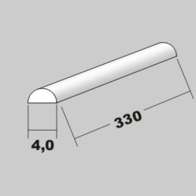P-Halbrund 4,0 x 330mm