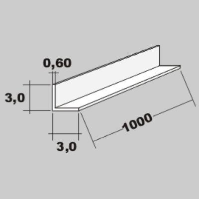 P-L Profil 3,0x3,0 x 1000mm