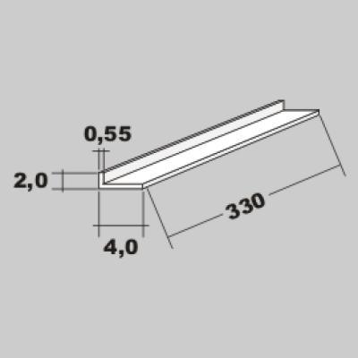 P-L Profil 4,0x2,0 x 330mm
