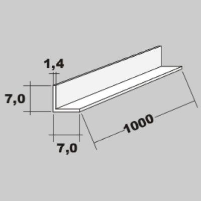 P-L Profil 7,0x7,0 x 1000mm