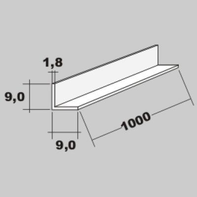 P-L Profil 9,0x9,0 x 1000mm