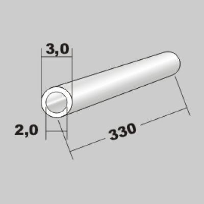 P-Rundrohr  3,0x2,0 x 330mm