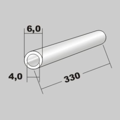 P-Rundrohr  6,0x4,0 x 330mm