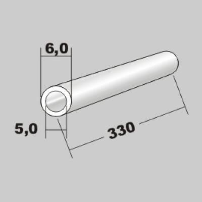 P-Rundrohr  6,0x5,0 x 330mm