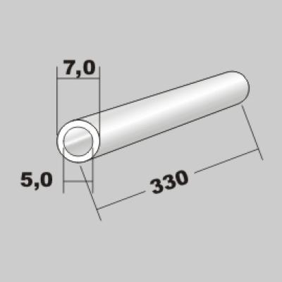 P-Rundrohr  7,0x5,0 x 330mm