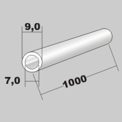 P-Rundrohr  9,0x7,0 x 1000mm