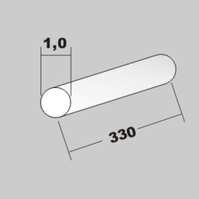 P-Rundstab 1,0 x 330mm